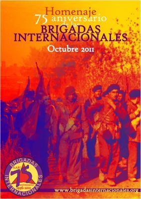Homenaje a las Brigadas Internacionales en el 75 aniversario de su fundación.