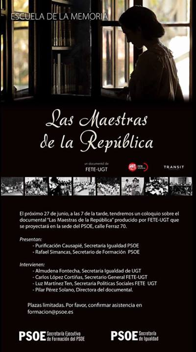 Homenaje a las maestras de la República