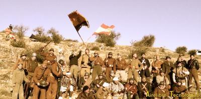 Recreación del episodio de la Colina del Suicidio, en la Batalla del Jarama.