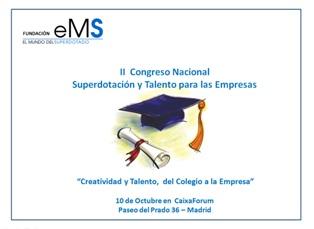 II Congreso Nacional de Superdotación y Talento dirigido a las empresas