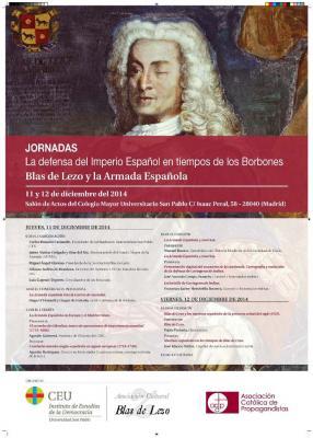 JORNADAS DE HOMENAJE AL MARINO ESPAÑOL BLAS DE LEZO.