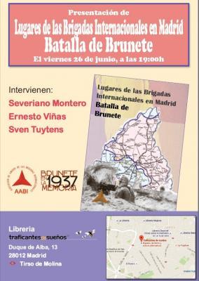Presentación del libro Lugares de Las Brigadas Internacionales en la Batalla de Brunete